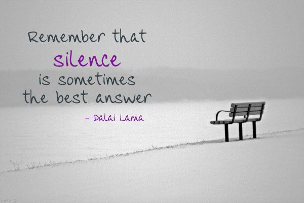 Why Silence Is Sometimes The Best Answer, BadRedhead Media, @badredheadmedia